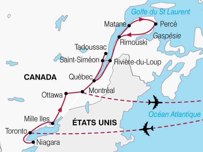 Carte Canada Gaspesie.Voyage A La Carte Le Canada Entre Nous Canada Entre Nous