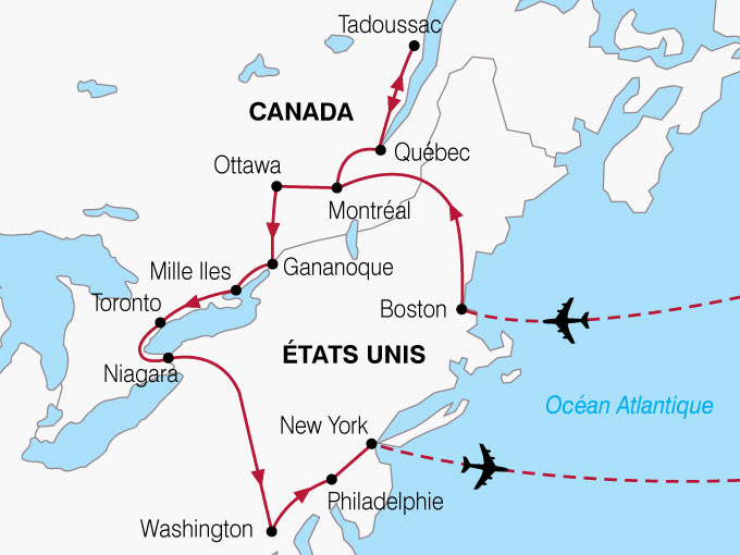 Carte Canada Boston.Voyage A La Carte Berceau Du Nouveau Monde Canada Etats