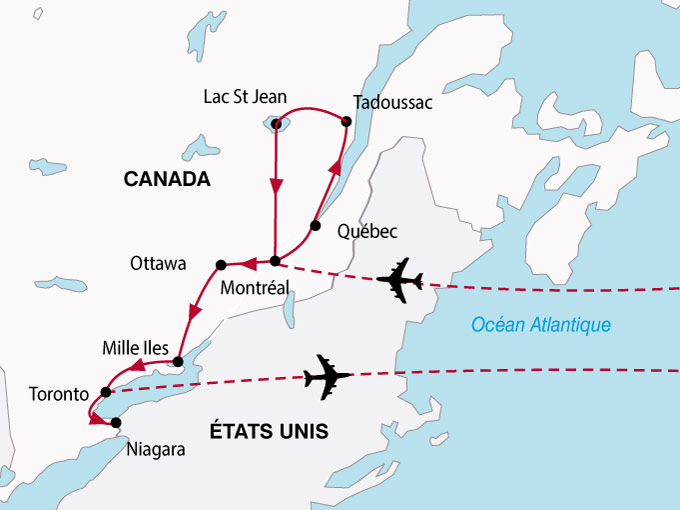 Carte Principales Villes Du Canada