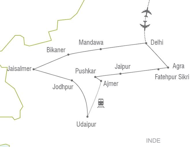 Carte Touristique De Linde Du Nord.Voyage A La Carte L Inde Du Nord Et Le Rajasthan Inde