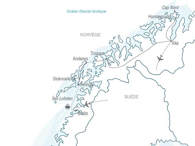 Carte Norvege Cap Nord.Voyage A La Carte Les Iles Lofoten Et Le Cap Nord En Toute