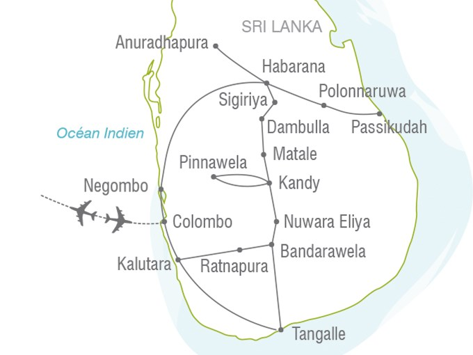 Pinnawala Carte Sri Lanka.Voyage A La Carte Ceylan Le Pays De L Or Vert Sri Lanka