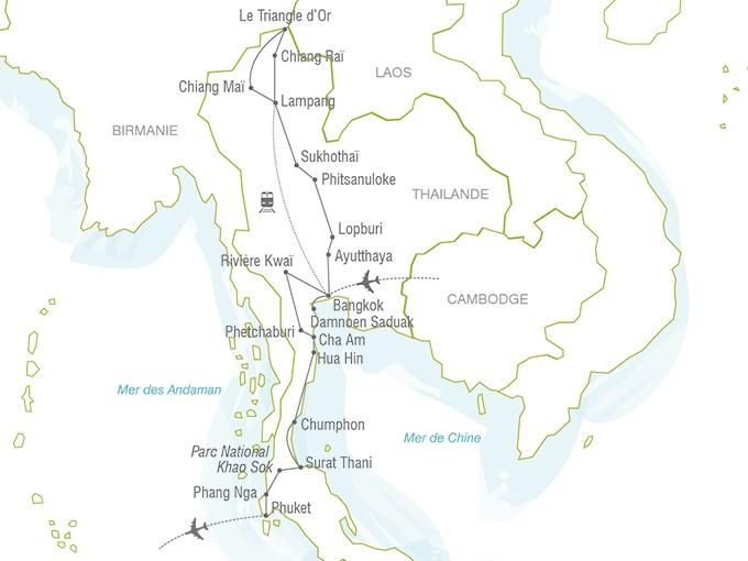 Voyage 224 La Carte La Tha 239 Lande Du Nord Au Sud Tha 239 Lande