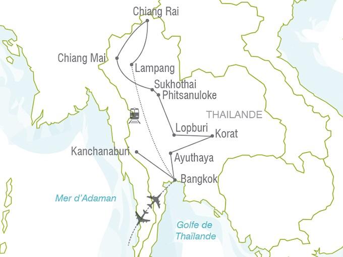 Carte Thailande Sukhothai.Voyage A La Carte Le Royaume De Siam Thailande Entre Nous